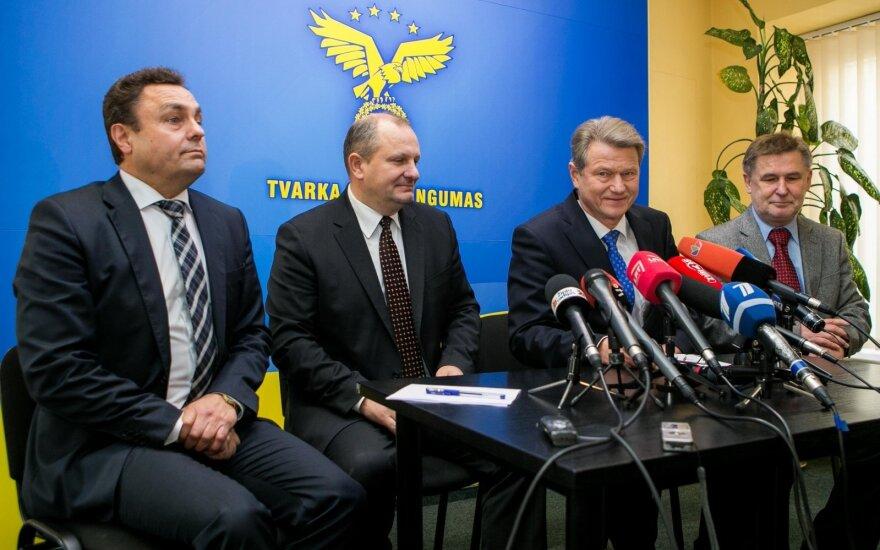 Order and Justice Party leadership: Petras Gražulis, Kęstas Komskis, Rolandas Paksas, Valdas Vasiliauskas