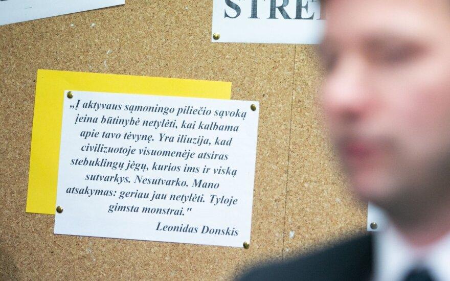 Mokyklose tęsiantis streikui, posėdžiaus darbo grupė dėl naujos algų sistemos gerinimo