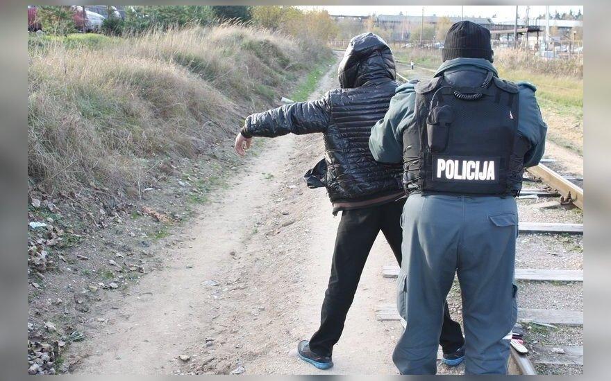 Vilniaus tabore reido metu sužalotas policininkas