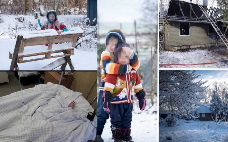 Gaisre nukentėjusi šeima
