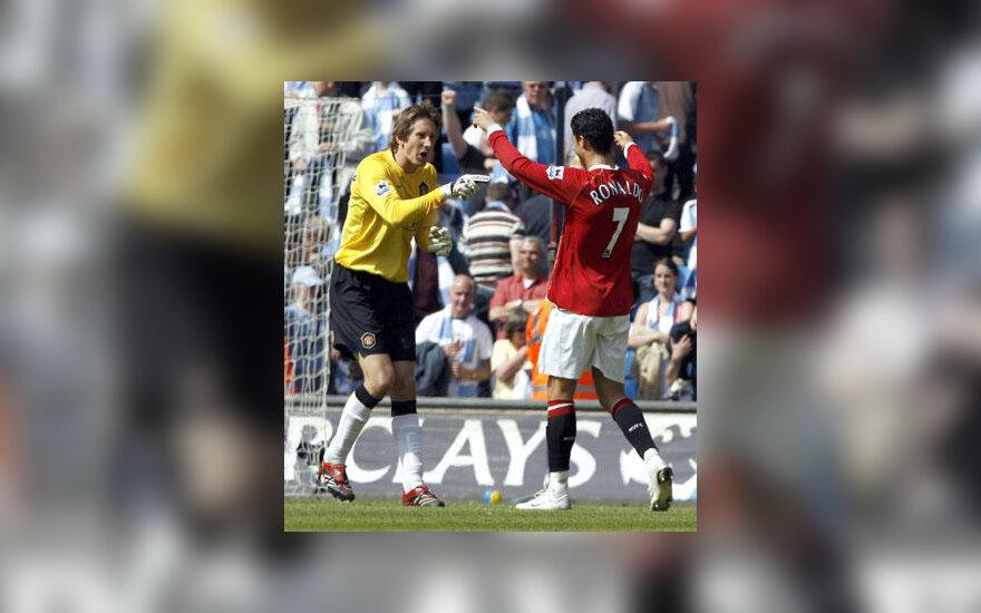 "Edwinas van der Saras ir Cristiano Ronaldo (""Manchester United"")"