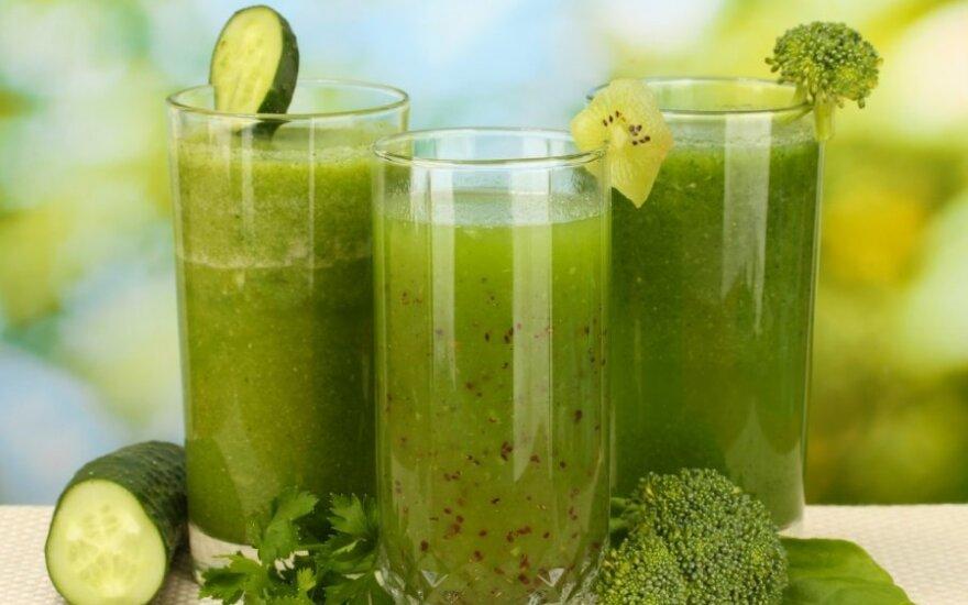 Vasariška žaliųjų kokteilių dieta