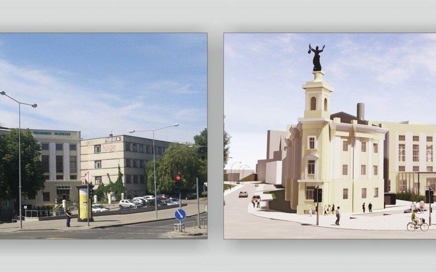 """Hilton"" viešbučio Vilniuje vizualizacija"