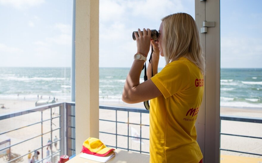 Palanga extends lifeguard hours to safeguard swimmers