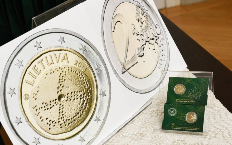 New Baltic Amber two euro coin released by Bank of Lithuania