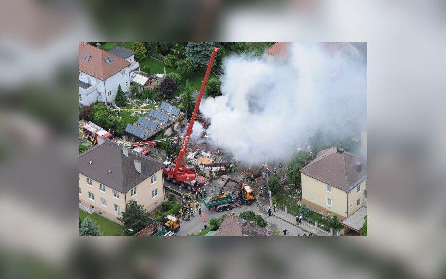 Austrijoje sprogus dujoms sugriuvo dalis gyvenamojo namo