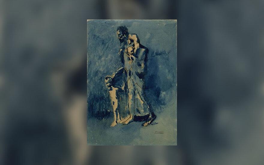 """Pablo Picasso paveikslas """"Skurdas"""""""