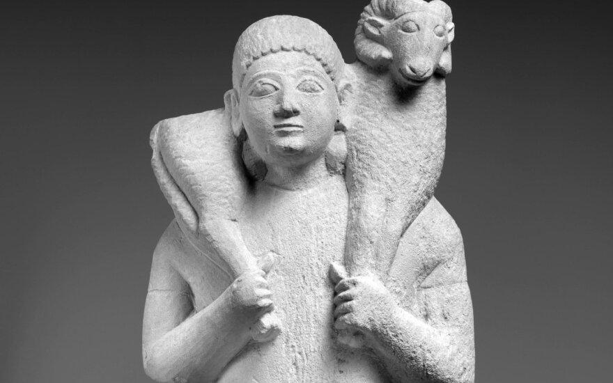 Kalkakmenio statulėlė iš Kipro, VI a. pr. Kr.