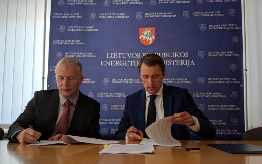 """Vokietijos """"Danpower"""" su Energetikos ministerija pasirašė taikos sutartį / """"Danpower"""" nuotr."""