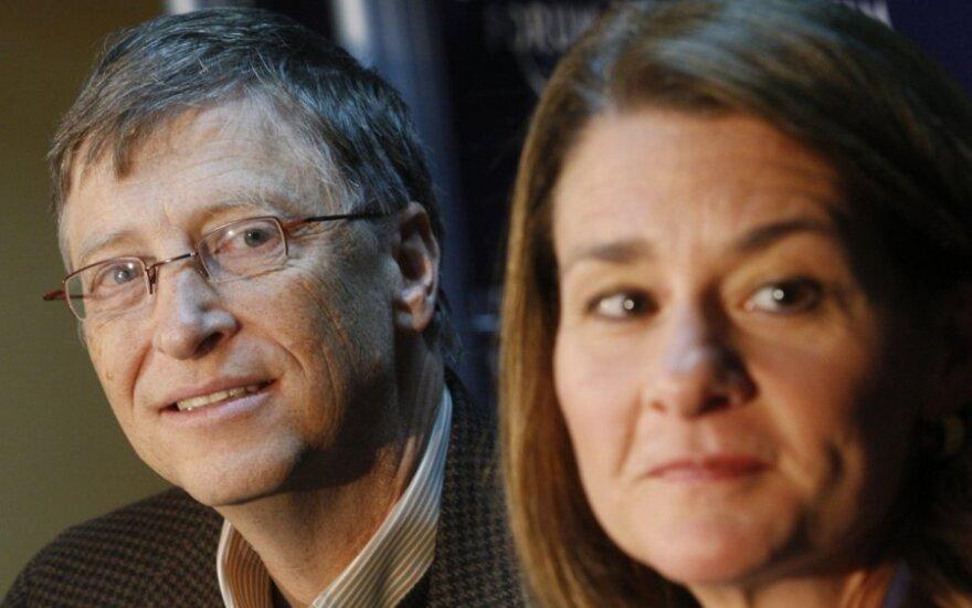 Billas Gatesas ir jo žmona Melinda