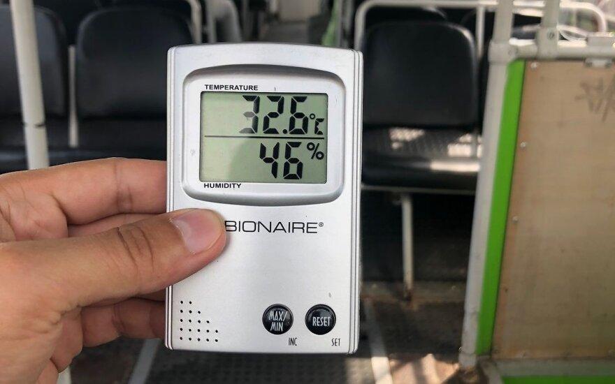 """Matavo temperatūrą Kauno viešajame transporte – rezultatai """"šiltoki"""""""