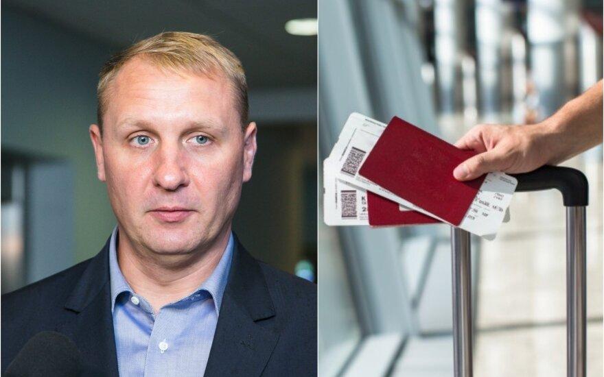A.Šedžius, lėktuvo bilietai / Foto: Delfi, Shutterstock