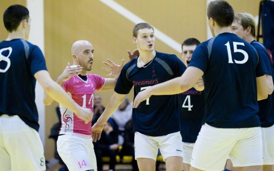 """Vilniaus """"Flamingo Volley-SM Tauras"""" (A. Čatkausko nuotr.)"""