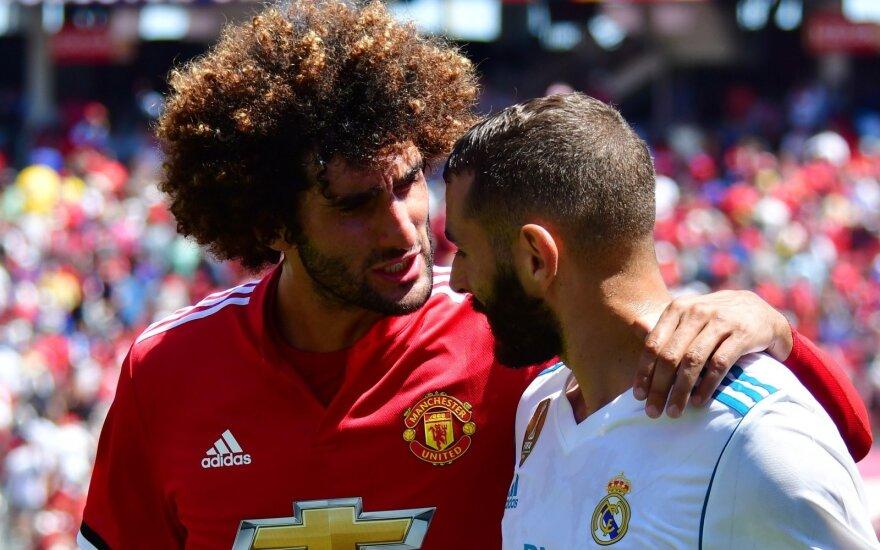 Marouane'as Fellainis (kairėje) ir Karimas Benzema