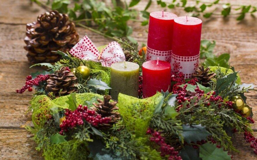 Originalios kalėdinio vainiko gamybos idėjos