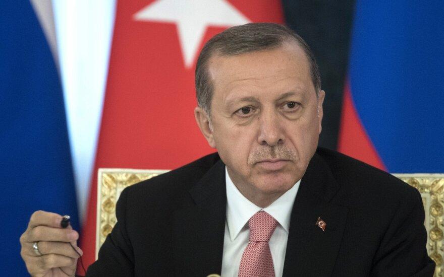 R. T. Erdoganas: Turkijos pajėgos išlaisvino 400 kv. km Sirijos žemės