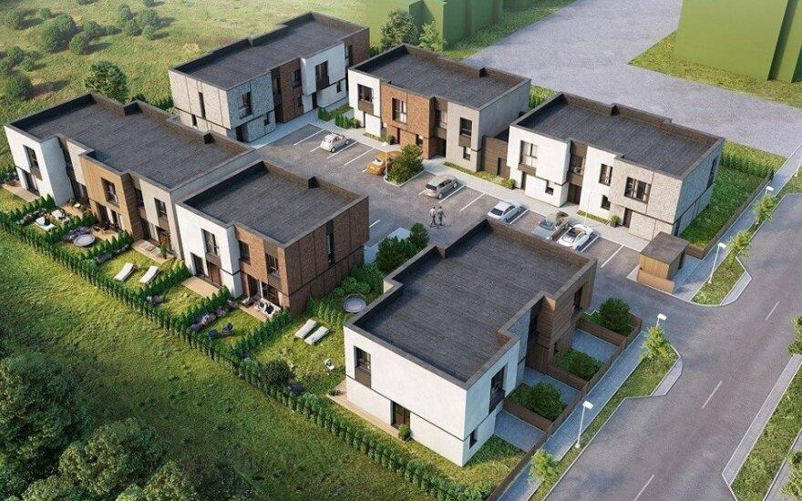 Į naują kotedžų kvartalą Pilaitėje – 1,5 mln. eurų investicija