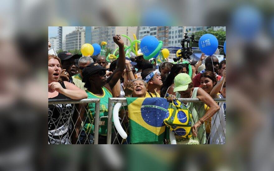 Rio De Ženeiro gyventojai džiaugiasi TOK sprendimu