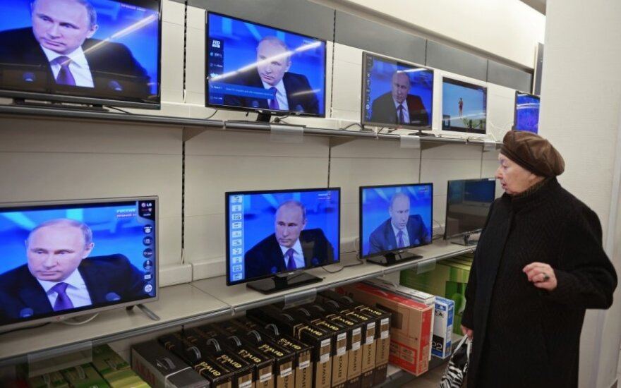 V. Putin on Russian television