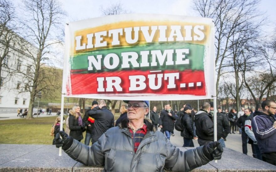 Lower attendance at controversial nationalist march in Vilnius