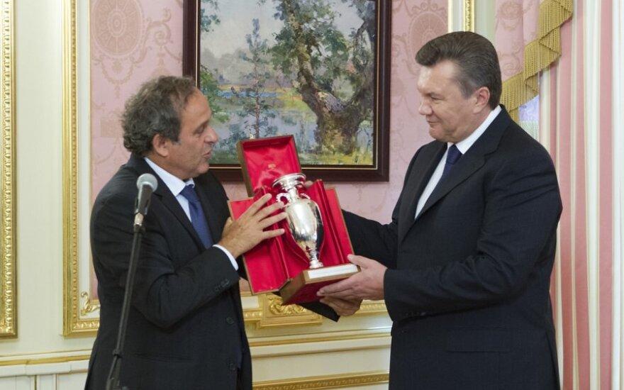 Michelis Platini ir Viktoras Janukovičius