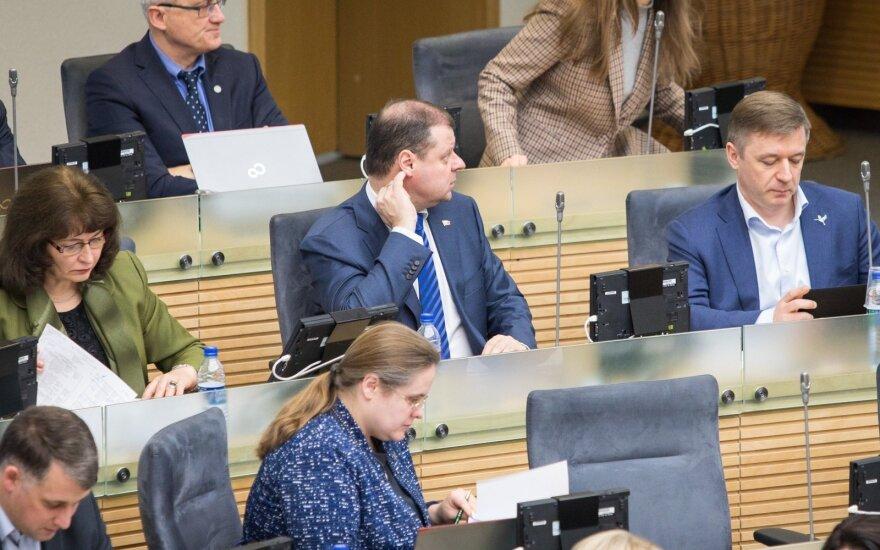Rima Baškienė, Agnė Širinskienė, Saulius Skvernelis, Ramūnas Karbauskis