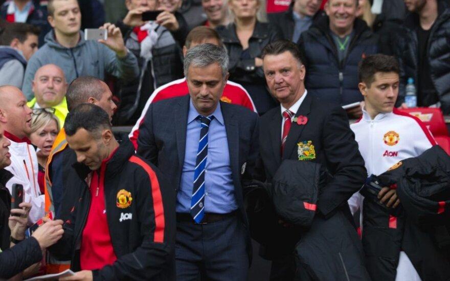 Jose Mourinho ir Louisas van Gaalas