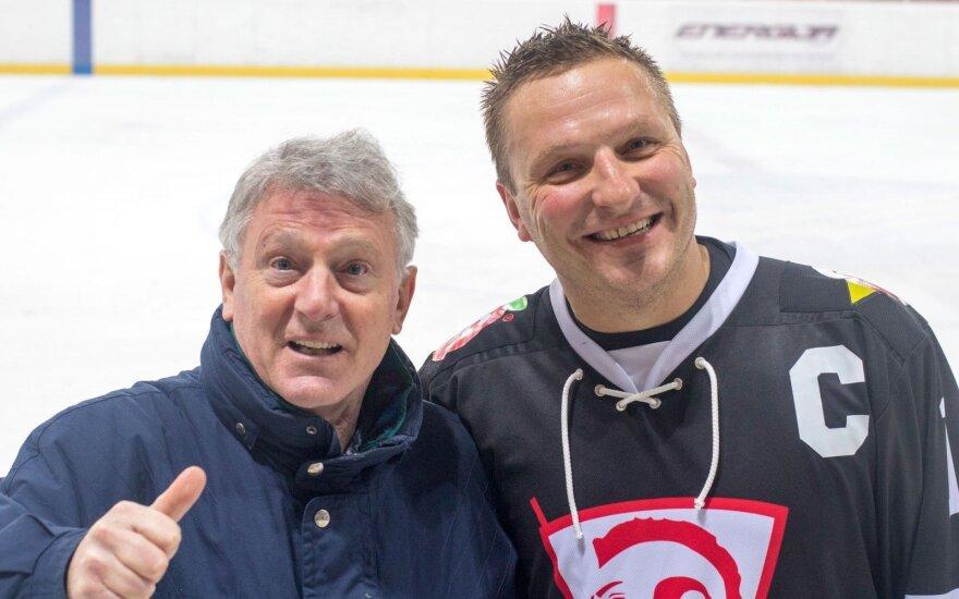Berndas Haake ir Darius Kasparaitis
