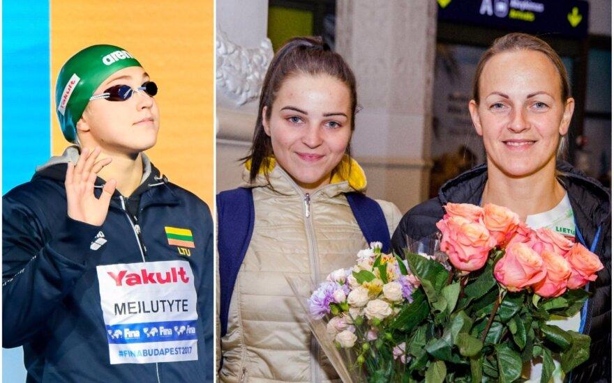 Rūta Meilutytė, Miglė Marozaitė ir Simona Krupeckaitė
