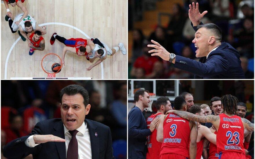 """Šarūnas Jasikevičius, Dimitris Itoudis, CSKA - """"Žalgiris"""""""