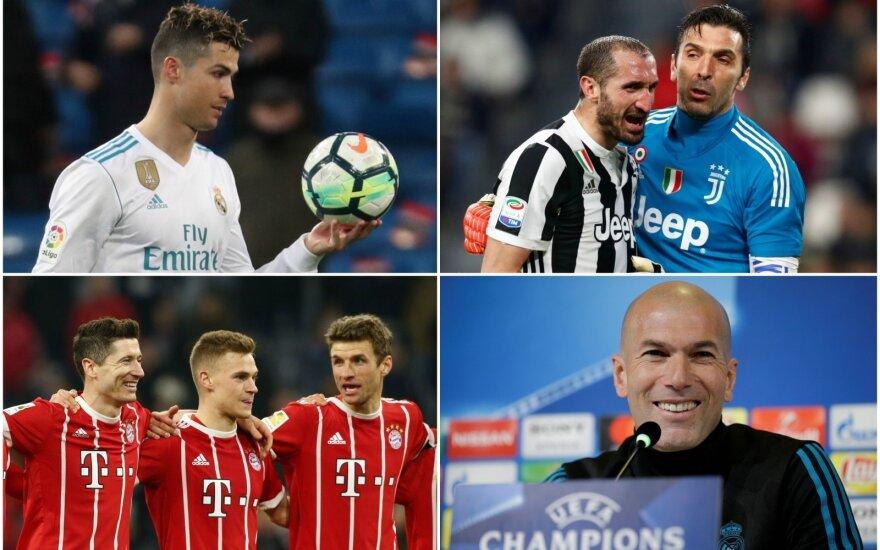 """Cristiano Ronaldo, """"Juventus"""", """"Bayern"""", Zinedine'as Zidane'as"""