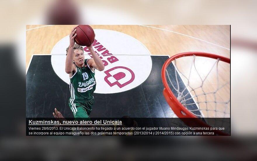 Mindaugas Kuzminskas (unicajabaloncesto.com nuotr.)