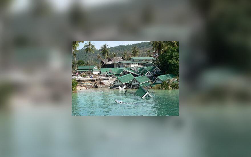 Per cunamį Pietryčių Azijoje po vandeniu atsidūrė ištisos gyvenvietės