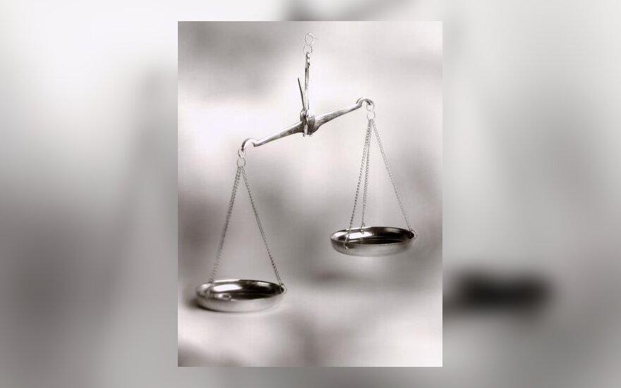 Teismas, teisingumas, svarstyklės, nuosprendis