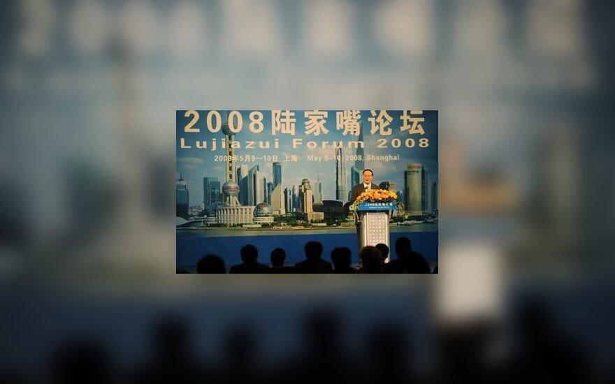 Kalba Kinijos vicepremjeras Wangas Qishanas