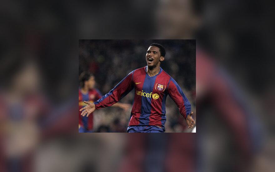 """Samuelis Eto'o (""""Barcelona"""")"""