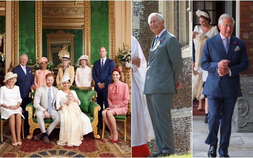 Princas Charlesas per anūkų krikštynas