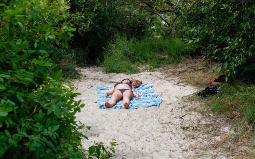 Šeštadienio popietė Palangos paplūdimyje