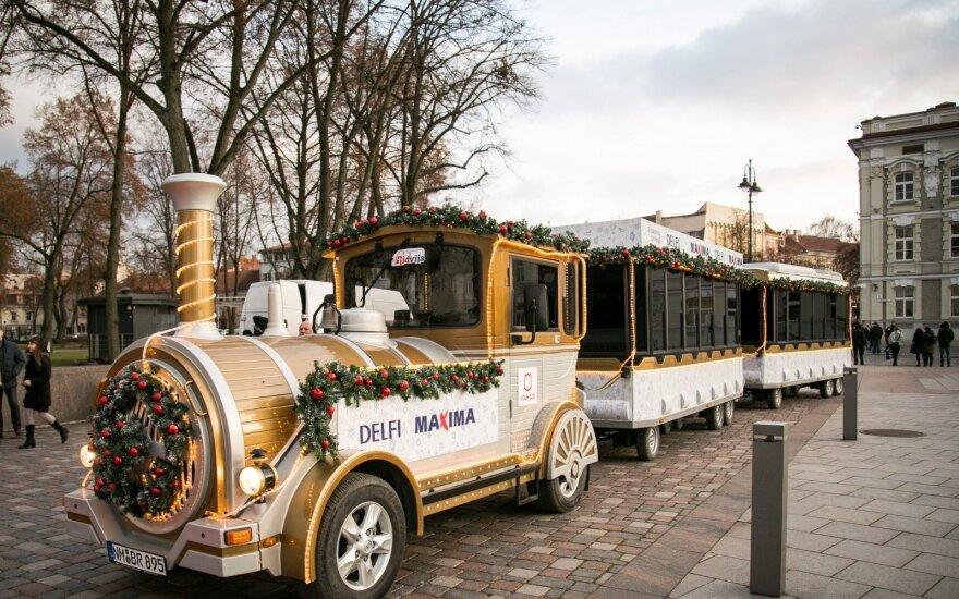 Kalėdų traukinukas išriedėjo į gatves!