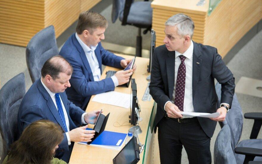 Saulius Skvernelis, Ramūnas Karbauskis, Povilas Urbšys