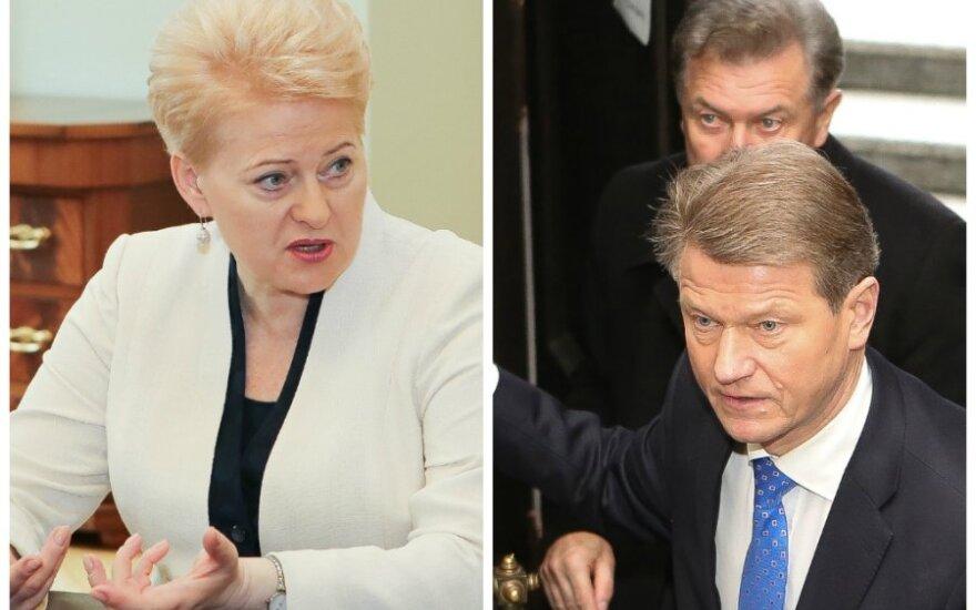 Dalia Grybauskaitė, Rolamdas Paksas