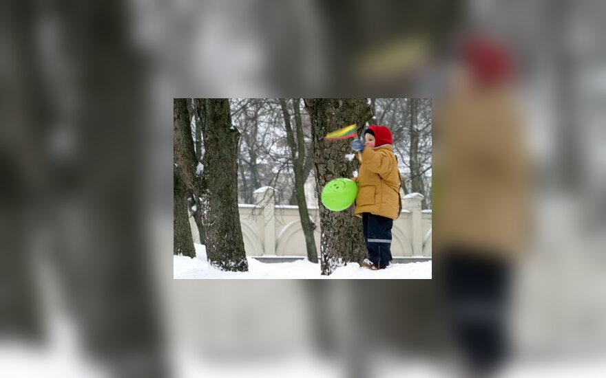 Vaikas su vėliava, patriotizmas, Lietuvos vėliava