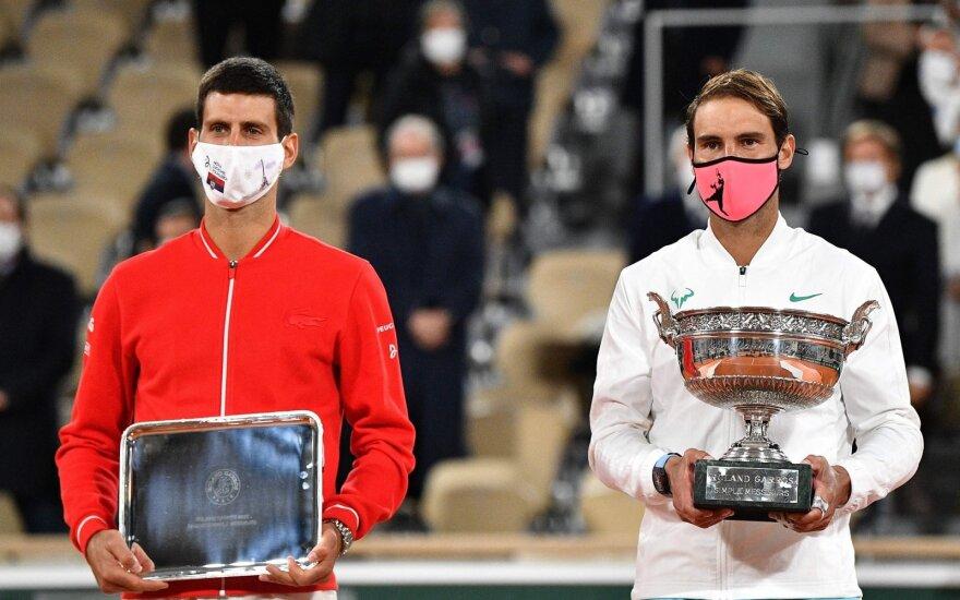 Novakas Džokovičius ir Rafaelis Nadalis