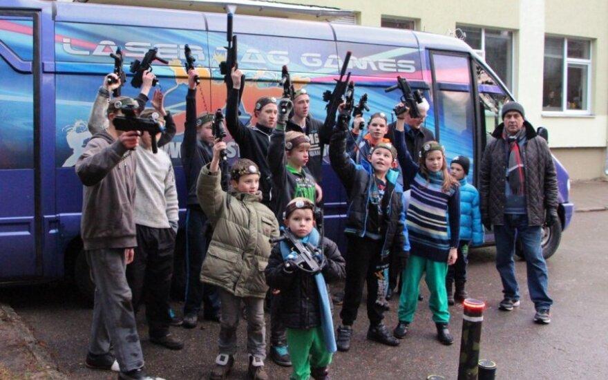 Globos namų vaikai dalyvavo lazerių turnyre
