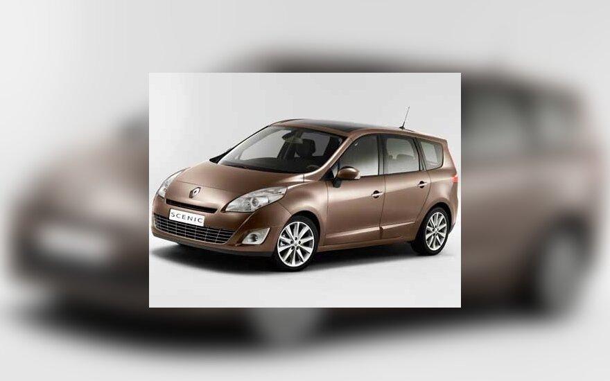 """""""Renault"""" pristatė trečiosios kartos """"Scenic"""" vienatūrį"""