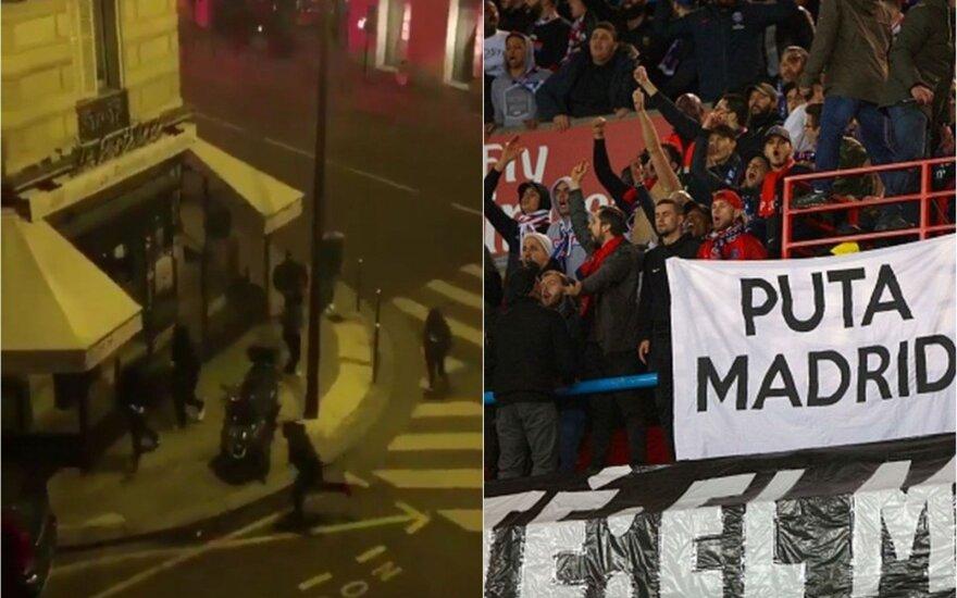 """Naktį Paryžiuje – PSG fanų išpuolis prieš """"Real"""" futbolininkus"""