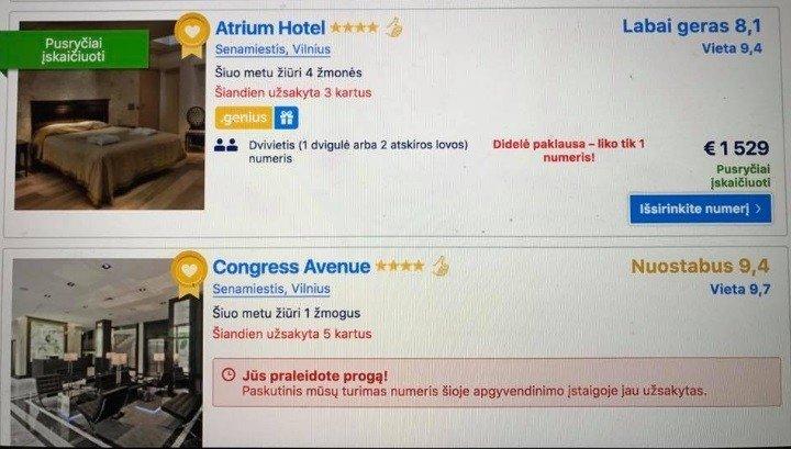 Feisbuke sklinda neįtikėtinos naujametinės nakties viešbučiuose kainos