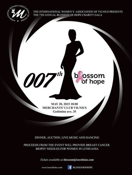 Blossom of Hope pits James Bond against breast cancer