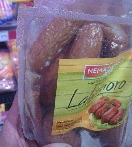 Parduotuvės lentynoje pastebėta prekė sugadino apetitą