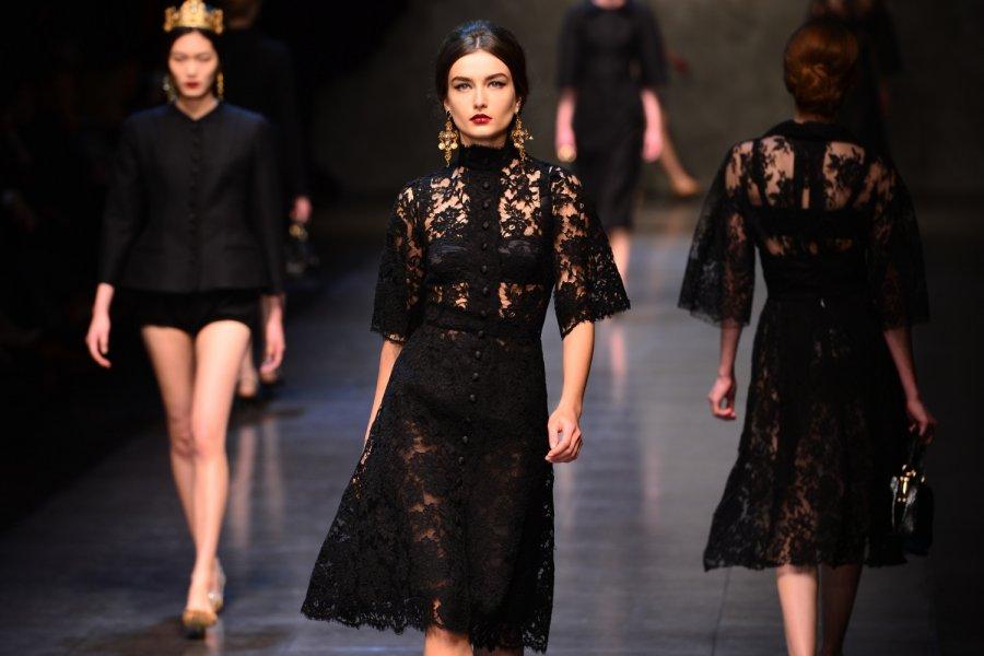 Черные платья дольче габбана 154
